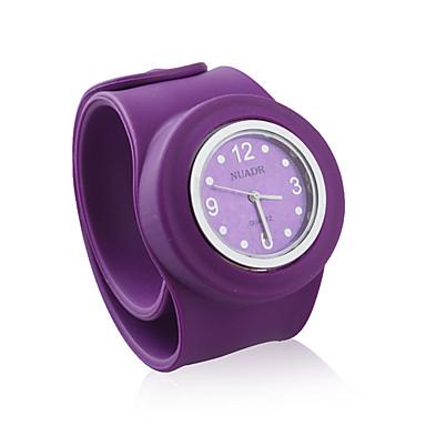 大きいサイズのシリコーン派派の腕時計、紫