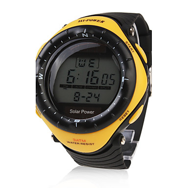 Men's Watch Sports Solar Powered Water Resistant Digital Multi-Function Cool Watch Unique Watch Fashion Watch