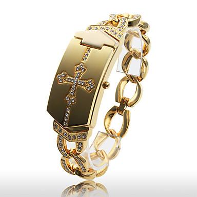 Women's Fashionable Gold Alloy Quartz Bracelet Watch Cool Watches Unique Watches