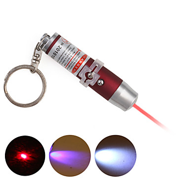 3 in 1 UV Detector + Laser Keychain + LED Keychain - Red