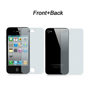 Protezione (anteriore + posteriore) trasparente per iPhone 4/4S con panno