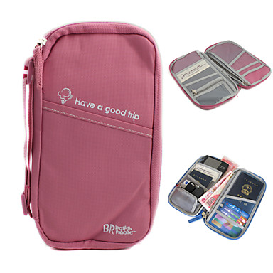 Wielofunkcyjna torebka składowania + posiadacz paszportu (różowy)
