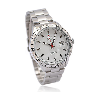 Gorgeous Men's Stainless Steel Mechanical Wrist Watch