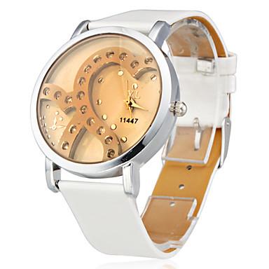 Pentru femei Ceas de Mână Japoneză Quartz Silicon Alb imitație de diamant Analog femei Sclipici Heart Shape Modă - Alb / Oțel inoxidabil