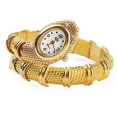 Bayanların Bilezik Saat Quartz Bant Halhal Altın Rengi Altın