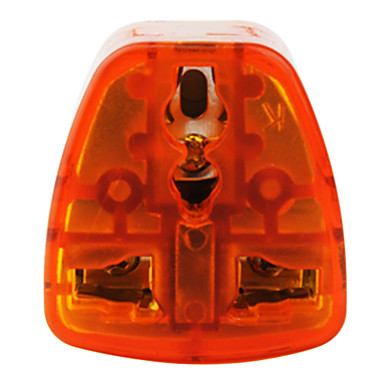 US To All Standard Travel Adapter (10A-250V ,Orange and Gray)