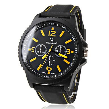 V6 Pánské Sportovní hodinky Křemenný Japonské Quartz Silikon Kapela Černá