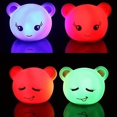 Lovely Bear Expression LED Mood Night Light (Random Color)