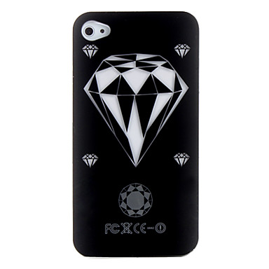 Diamond Pattern Phone Call Indicating Case for iPhone 4 / 4S