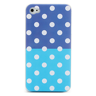 Round Dots Pattern Protective Case for iPhone 4 (Assorted Colors)