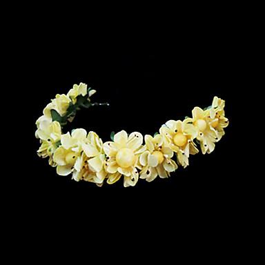 Kadın Çiçekçi Kız Kağıt Başlık-Düğün Özel Anlar Saç Bantları Çiçekler