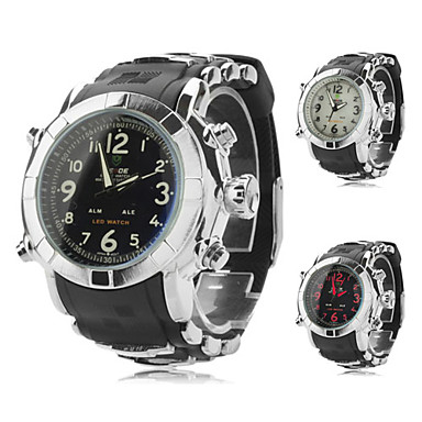 Men's Silicone Analog-Digital Multi-Movement Wrist Watch (Assorted Colors)