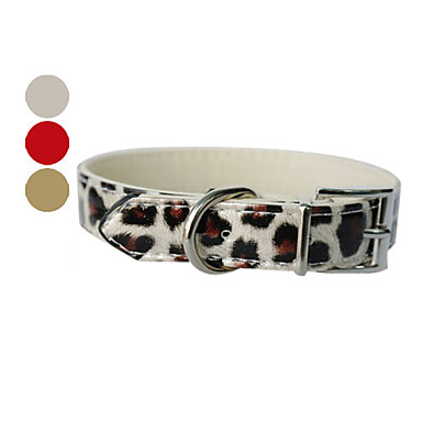 Leopard Pattern Style Adjustable Dog Collar (Assorted Colors)