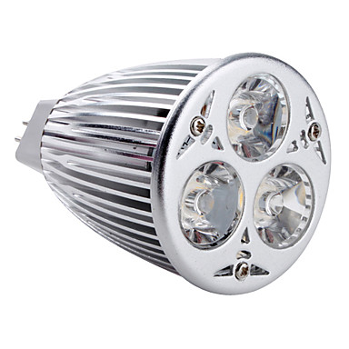 350-450 lm GU5.3(MR16) Spot LED MR16 3 diodes électroluminescentes LED Haute Puissance Blanc Naturel AC 12V DC 12V