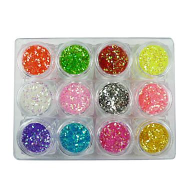 12 pcs Glitter & Poudre / Dekorasyon Setleri / Payetler Klasik Sevimli Günlük