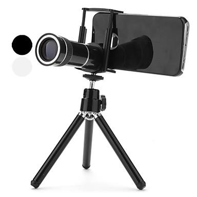 10x zoom telelinse med saken og stativ for iPhone 4 og 4S (assorterte farger)