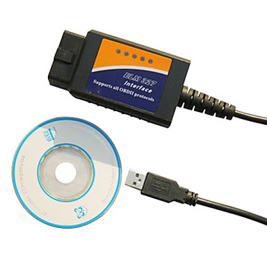 Scanner di diagnostica dell'auto, ELM 327 OBD2 USB