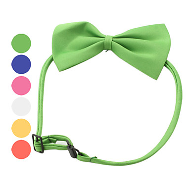 Cat Dog Collar Adjustable / Retractable Bowknot Textile Dark Blue Yellow Red Green Pink