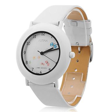 femmes montre-bracelet analogique pu quartz (blanc)