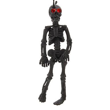 Nyckelknippa skalle skelett Punkmode Fleksibel Svart Blekna Plastic