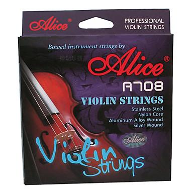Alice - (A708) Violin Strings/E-1st Steel Core,A-2nd D-3rd G-4th Nylon Core