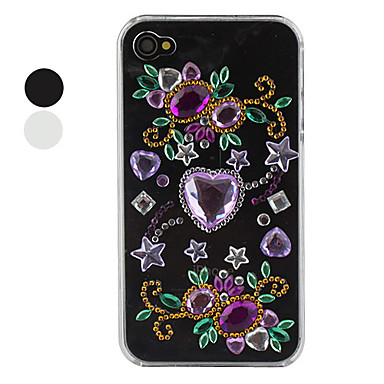 Crystal Styled Protective Case for iPhone 4 and 4S (Black)