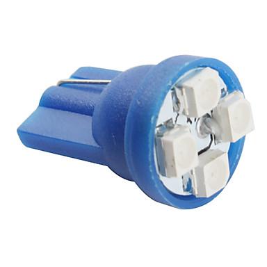 t10 bombilla 0.5W luz LED azul para coche (12V DC, 4-pack)