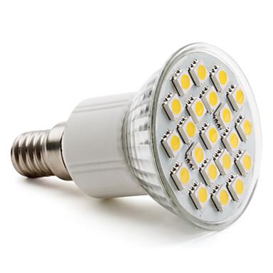 E14 5050 SMD 21-LED Warm White 200-220LM Light Bulb (230V, 3-3.5W)