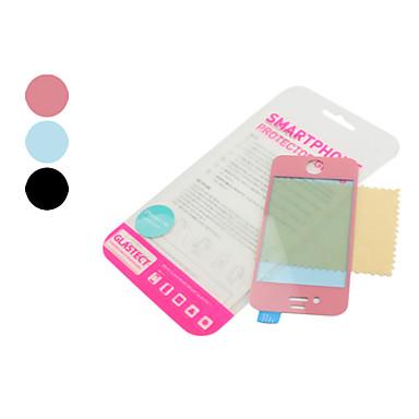 karkaistua lasia kuori iPhone 4 ja 4S (valikoituja värejä)