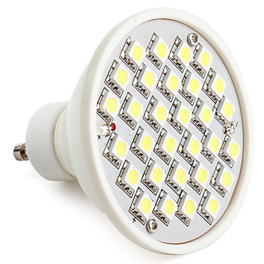 GU10 W 30 SMD 5050 300 LM Natural White MR16 Spot Lights V