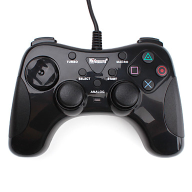 Dual Shock Turbo Controller for PS2, PS3 and PC (Black)