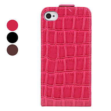 Etui Complet Style Crocodile pour iPhone 4/4S - Couleurs Assorties