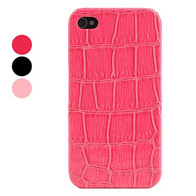 Etui Rigide de Protection en Cuir PU Style Peau de Crocodile pour iPhone 4/4S - Couleurs Assorties