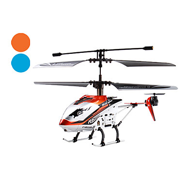 4 Channel Drift King IR Helicopter with Built-in Gyro (Blue/Orange)