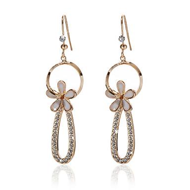 Cierelaey Fashion Drill Gold Plate Agate Earrings