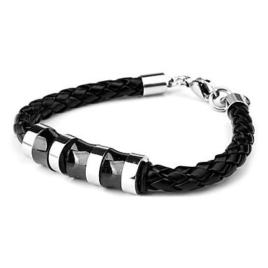 Eruner®Cortical Weaving Bracelet with Steel Rings (Black)