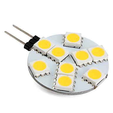1W G4 LED Bi-pin Işıklar 9 LED'ler SMD 5050 Sıcak Beyaz 250-300lm 3000K DC 12V