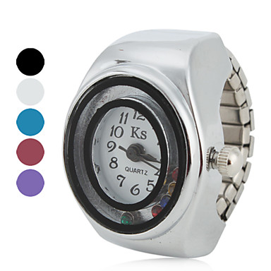 les femmes au style de roulement des billes en alliage analogique bague montre à quartz (couleurs assorties)