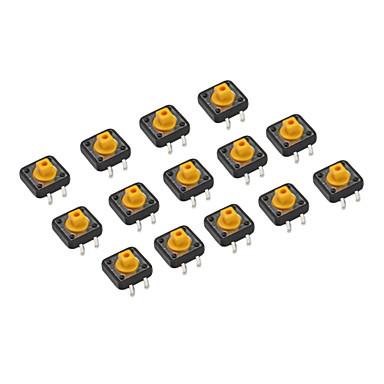 20 Pieces 12 x 12 x 7.3mm Tactile Push Button Switch DIY
