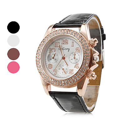 Women's Quartz Analog Crystal Case PU Band Wrist Watch (Assorted Colors) Cool Watches Unique Watches