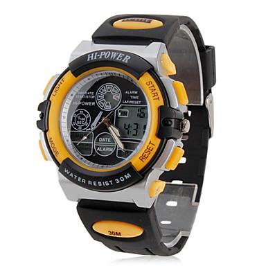 unisexe en caoutchouc analogique - numérique montre-bracelet multi-mouvement (noir)