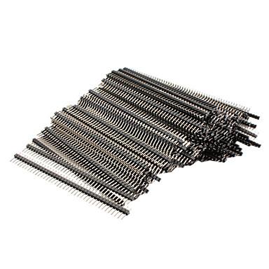 200 kpl 40 pin 1 x 40 uros 2.54mm särkyviä piikkirima diy