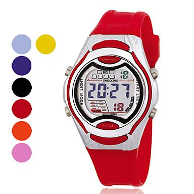 cronógrafo mulheres pu relógio digital de pulso automático (cores sortidas)