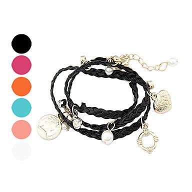 Fashion Multi-Element Pendant Weave Bracelet
