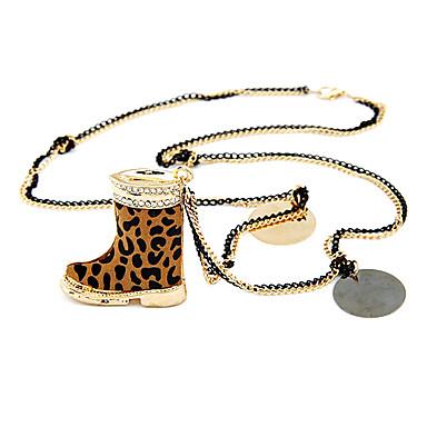 la moda del estampado leopardo collar de tacón alto