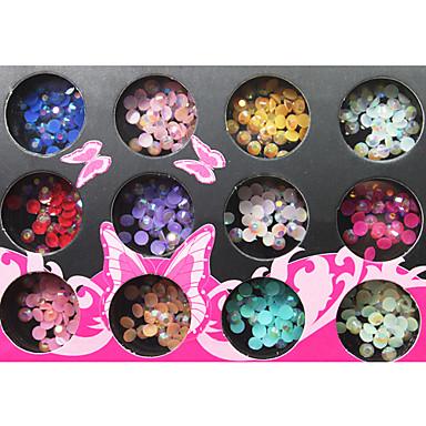 3D Colorful Circle Style Resinic Diamonds Nail Art Nail Decorations Suit