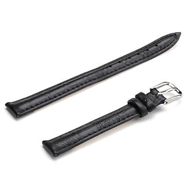 Unisex Genuine Leather Watch Strap 12MM(Black)