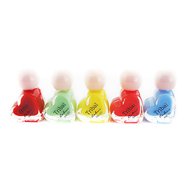 5*8ml Graceful Girl's Heart-shaped Nail Polish