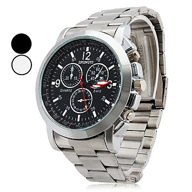 Men's Wrist watch Quartz Casual Watch Alloy Band Charm Silver