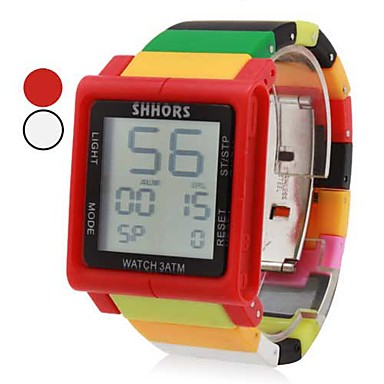 unisex touch screen digital colorida de plástico band relógio de pulso (cores sortidas)